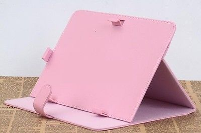 10'' inch PINK/WHITE/BLACK PU Leather Case Cover for Tablet PC PDA MID PAD Gift