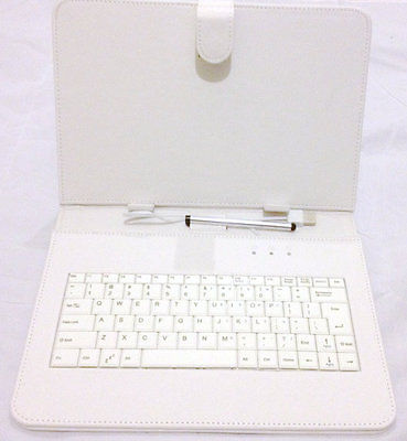 "10 ""Inch PU Leather White Case Cover USB Keyboard Stylus with for Android Tablet"