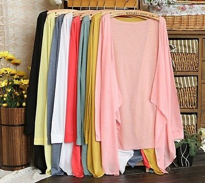 11 Colors Summer Women's Lady's Casual Open Cardigan Sweater Long Sleeves Top