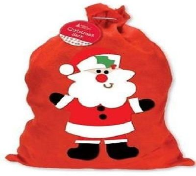 2 x CHRISTMAS SANTA SACK STOCKING SACK