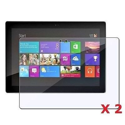 "2 x Clear Screen Protectors For Microsoft Surface RT Windows 10.6"" Inch Tablet"