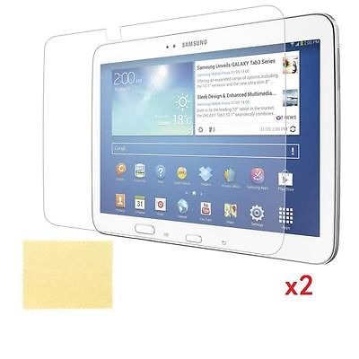 2x Clear Screen Protector Film for Samsung Galaxy 10.1'' inch Tab 3 P5200