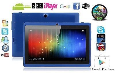 "7"" INCH BLUE DUAL CAMERA ANDROID 4.0.4 TABLET PC Allwinner A13 NETBOOK 4G GIFT"