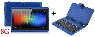 "7"" INCH BLUE DUAL CORE CAMERA ANDROID 4.4 TABLET  A23 8G + BUNDLE KEYBOARD CASE"