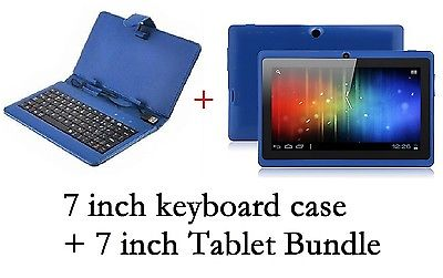 "7"" INCH BLUE KEYBOARD+7 INCH ANDROID 4.0.4 TABLET Allwinner A13 4G GIFT BUNDLE"