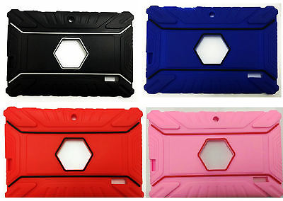 "7"" INCH Heavy Duty SILICONE RUBBER CASE FOR ANDROID TABLET ALLWINNER A13 A23 Q88"