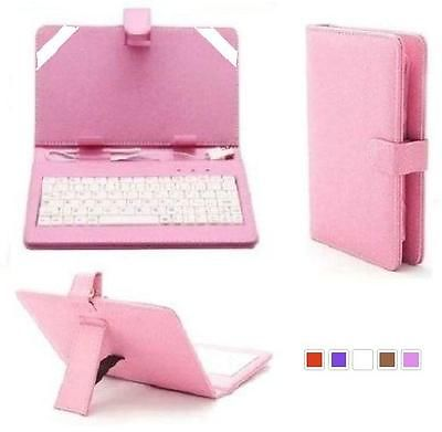 7'' Inch Micro USB Leather Stand Case with Keyboard+Stylus For Android Tablet