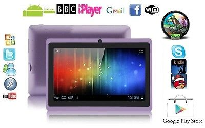"7"" INCH PURPLE DUAL CAMERA ANDROID 4.0.4 TABLET PC Allwinner A13 NETBOOK 4G GIFT"