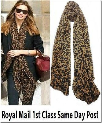 Celebrity Large Animal Leopard Print Shawl Scarf Long Stole Many Colors Gift