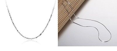 Classic Style 925 Sterling Silver Necklace Chain 18""