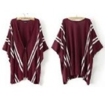 Fashion Women Poncho Knit Cape Cardigan Knitwear Coat