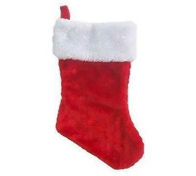High Quality Fluffy large Plush christmas stocking
