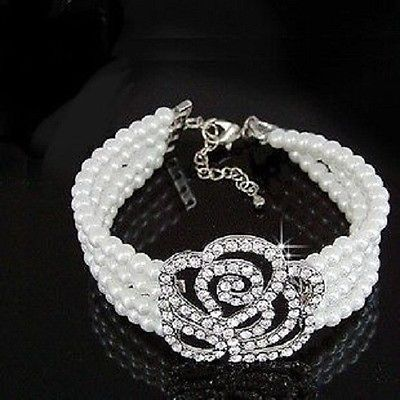 Hot Delicate Rose 4 Layer Pearl Bracelet HOT Christmas Gift