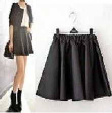 Ladies Women Vintage High Waisted Faux Leather PU Skater Flippy Flared Skirt