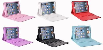 Leather Case Cover with Built-in Bluetooth Wireless Keyboard for iPad Mini Gift