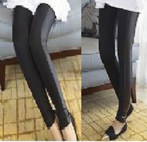 New Fashion Lady Skinny Black Sided Faux Leather Leggings Pants Trousers Tight
