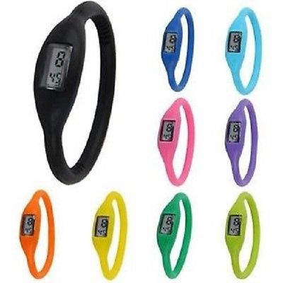New Fashion Silicone Silicon Rubber Sports Jelly Wrist Watch Gift