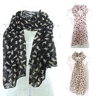 New Lady's Cat Print Scarf