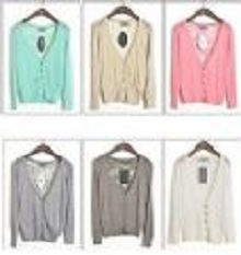 New Women Girl Casual Back Lace Open Cardigan Sweater Long Sleeves Top