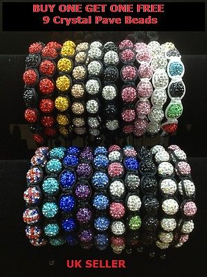 Shamballa Friendship Bracelet Crystal Pave Disco Balls Christmas Gift 20 colors