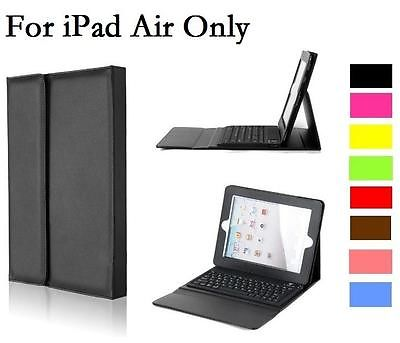 UK Leather Case Cover with Bluetooth Wireless Keyboard for iPad 5 iPad Air Gift