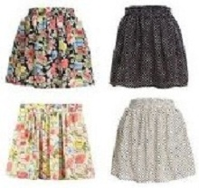 Vintage Girls Women Summer Pleated Floral Cute dot Chiffon Short Mini Skirt