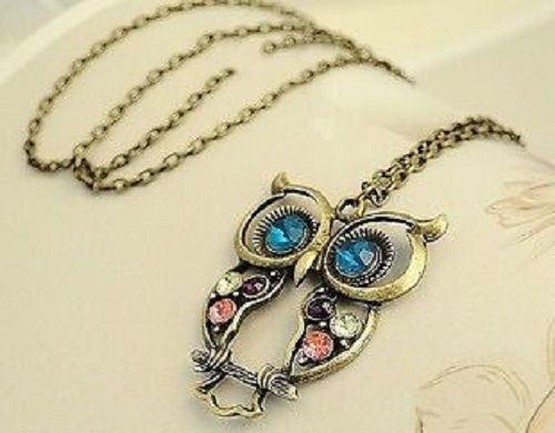 Vintage Hollow-Out Owl Pendant Necklace