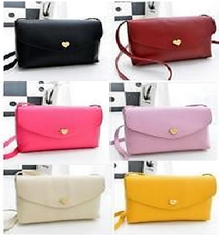 Women Girl Cute Cross Body Shoulder Message Bag Handbag PU Leather Candy Color