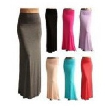 WOMENS LADIES PLAIN GYPSY LONG JERSEY LONG SKIRT M/L/XL